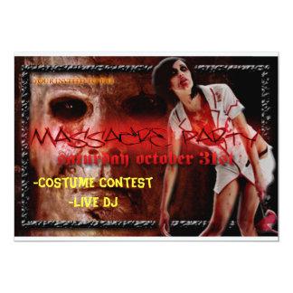halloween invite, -Costume Contest-Live DJ Card