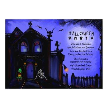 Halloween Themed Halloween Invite - Haunted House Halloween Party