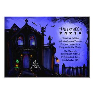Halloween Invite - Haunted House Halloween Party
