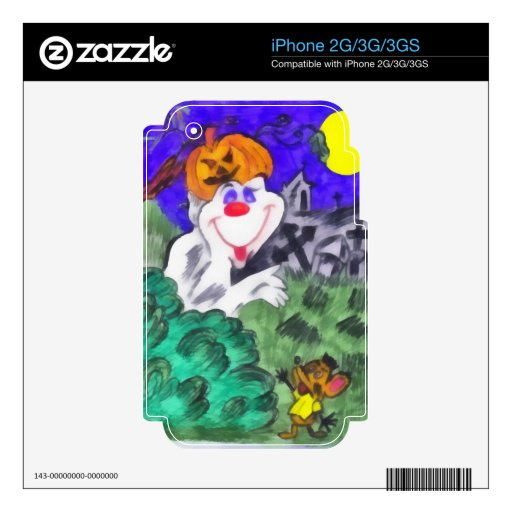 Halloween iPhone 3G Decals