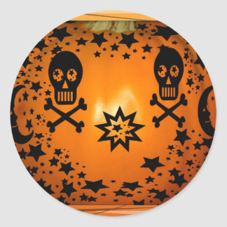 Halloween is coming_ classic round sticker