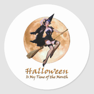 Halloween Is My Time Of The Month! Classic Round Sticker