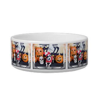 Halloween - Italian Greyhound - Waldo Cat Food Bowls