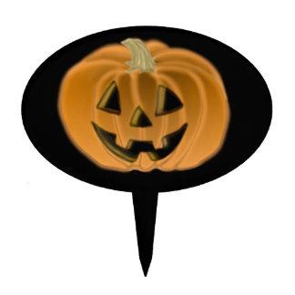 Halloween Jack O Lantern Cake Pick