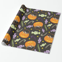 Halloween Jack o' Lantern Candy Wrapping Paper