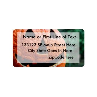 Halloween Jack O Lantern close up Address Label