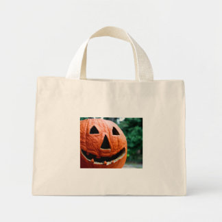 Halloween Jack O Lantern close up Bag