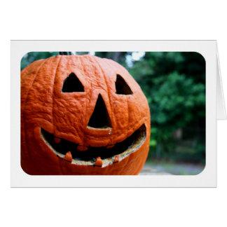 Halloween Jack O Lantern close up Stationery Note Card
