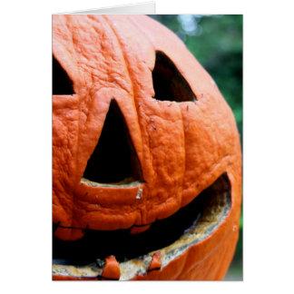 Halloween Jack O Lantern close up Greeting Card