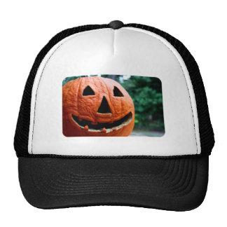 Halloween Jack O Lantern close up Mesh Hats