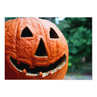 Halloween Jack O Lantern close up Invites