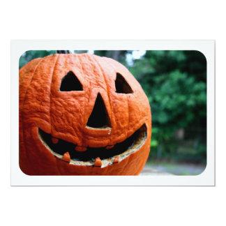 Halloween Jack O Lantern close up 5x7 Paper Invitation Card