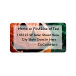 Halloween Jack O Lantern close up Personalized Address Labels
