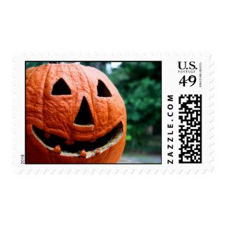 Halloween Jack O Lantern close up Postage