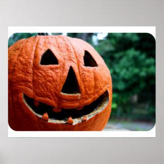 Halloween Jack O Lantern close up Posters