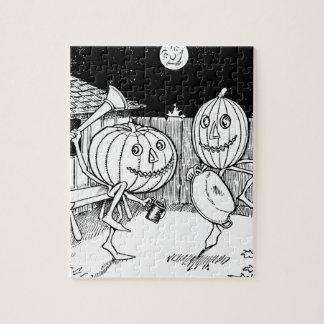 Halloween Jack-O-Lantern dance Puzzle
