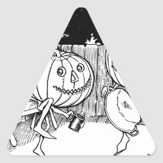 Halloween Jack-O-Lantern dance Triangle Sticker