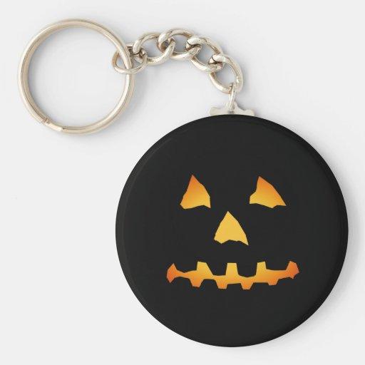 Halloween: Jack-o-Lantern Face: Basic Round Button Keychain