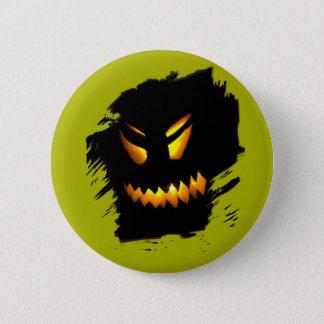 Halloween Jack-O-Lantern Face Button