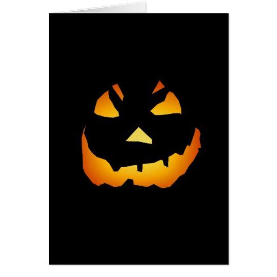Halloween: Jack-o-Lantern Face: Card