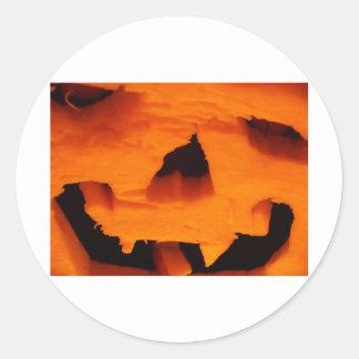 Halloween Jack-O-Lantern Face Classic Round Sticker