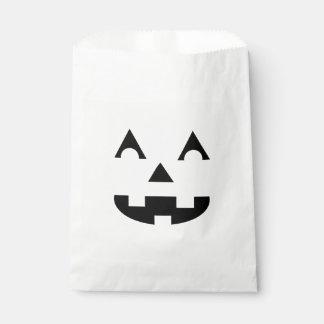Halloween Jack O Lantern Face Favor Bag