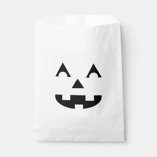 Halloween Jack O Lantern Face Favor Bag