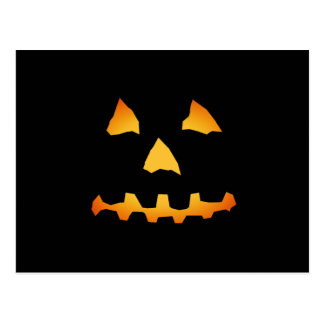 Halloween: Jack-o-Lantern Face: Postcard