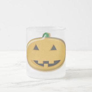 Halloween Jack-O-Lantern Frosted Glass Coffee Mug