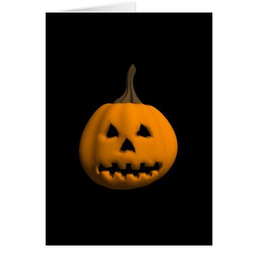 Halloween: Jack-o-Lantern: Greeting Card