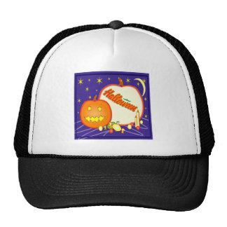 Halloween Jack o lantern Trucker Hats