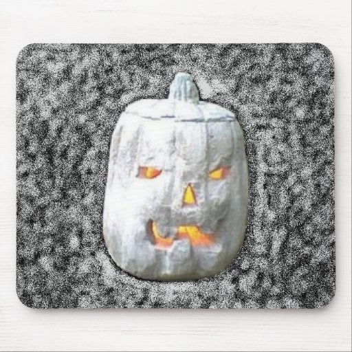 Halloween Jack-O-Lantern in Space Mousepad