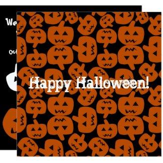 Halloween Jack-O-Lantern Invitation