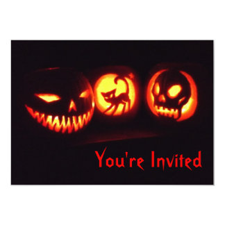 Halloween Jack o lantern Invitation