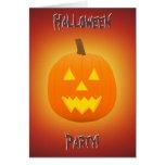 Halloween: Jack-O-Lantern: Invitation Card