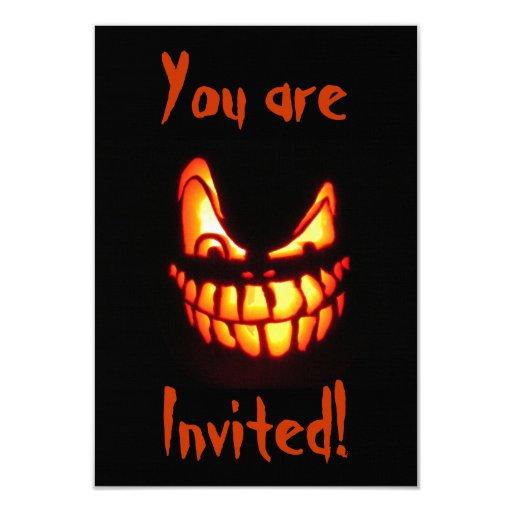 Halloween Jack o' Lantern Invitations