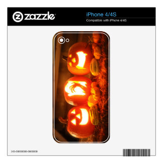Halloween Jack O Lantern iPhone 4/4S Skin Decals For The iPhone 4S