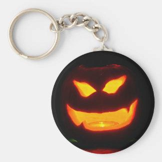 Halloween jack o lantern key chains