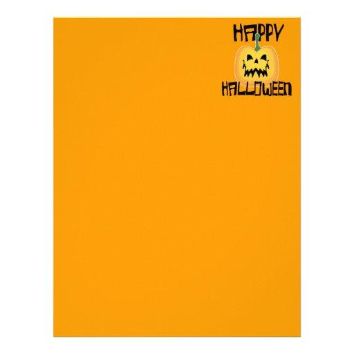Halloween Jack o Lantern Letterhead