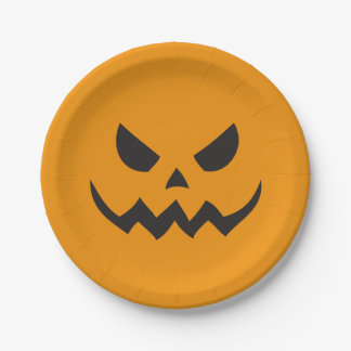 Halloween Jack-o-lantern Paper Plates 7 Inch Paper Plate