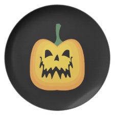 Halloween Jack o Lantern Plate