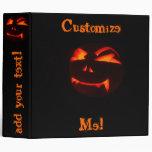 Halloween Jack O' Lantern Pumpkin Binder