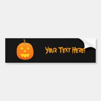 Halloween: Jack-O-Lantern: Pumpkin: Bumper Sticker