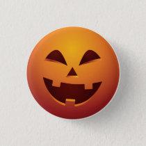 Halloween Jack O Lantern Pumpkin Button