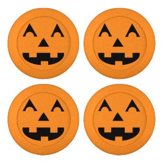 Halloween Jack O Lantern Pumpkin Face Button Covers