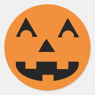 Halloween Jack O Lantern Pumpkin Face Classic Round Sticker