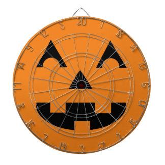 Halloween Jack O Lantern Pumpkin Face Dartboard