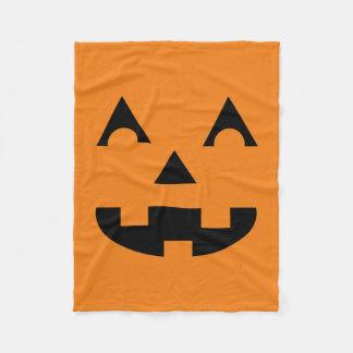 Halloween Jack O Lantern Pumpkin Face Fleece Blanket