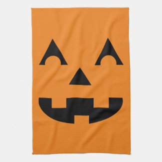 Halloween Jack O Lantern Pumpkin Face Kitchen Towels
