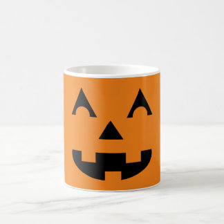 Halloween Jack O Lantern Pumpkin Face Classic White Coffee Mug